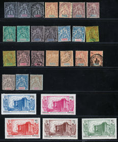 Sudan 1894/1939 - Sage type between Yvert no. 3 and 19 as well as a nearly complete collection with series, tax, and air mail stamps.