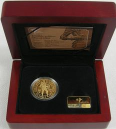 The Netherlands - double ducat 2009, gold in coffer with certificate KNM.