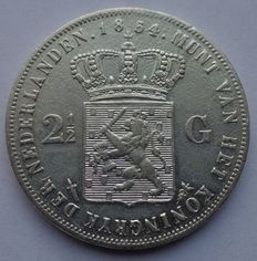 The Netherlands – Rijksdaalder 1854 over 1852 Willem III – silver