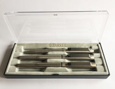 Parker 25 Flighter - Pen set ~ Fountain Pen ~ Ballpoint Pen ~ Rollerball Pen ~ With Black trim ~ Unique set