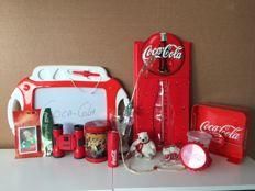 Large Coca-Cola collectors package with unique items most from the period 1990-2006