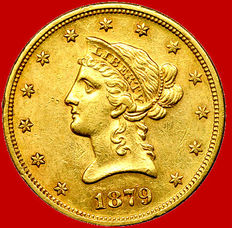 United States of America – 10 dollars – 1879-S, San Francisco – Gold