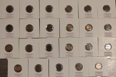 The Netherlands – ½ cent 1891/1940 Wilhelmina (23 different coins)