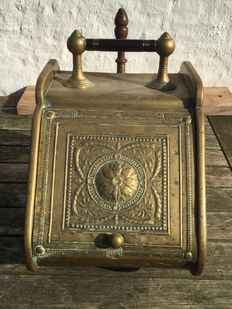 Very old antique yellow-brass coal bunker hatches. 19th century. trade mark-h. f & co. no: 50
