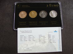 San Marino - 2 Euros 2011/2012 'Precious Metals' (4 different ones) in set.