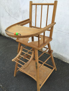 Old high chair for child