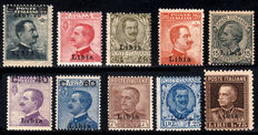 "Libya 1916/1929 – Italian Colonies ""Testine"" (heads) 10 values"
