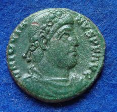 Roman Empire - Follis of emperor Jovianus (363-364 AD) minted in Sirmium, one of the last issued! (P407)