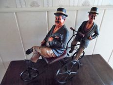 Laurel and Hardy on a tandem
