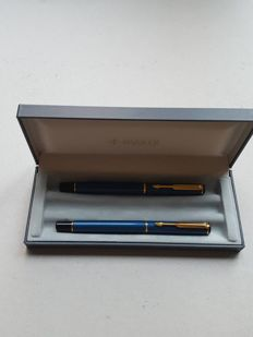 Parker Rialto Fountain pen&Ballpoint Laque Blue Gold