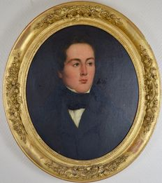 Unsigned (19th century) - A portrait of a gentleman in his finest clothes