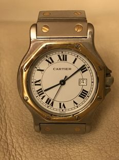 Cartier Santo Ronde – Automatic – 30 mm steel and gold casing – Unisex watch