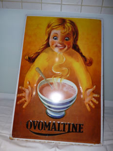 OVOMALTINE advertising sign - presumably period late 20th/early 21st century.