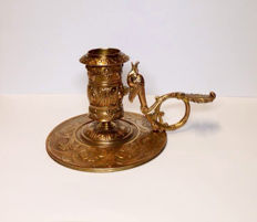 """Candle stick in bronze by  """"F. Barbedienne"""" - ca. 1890"""
