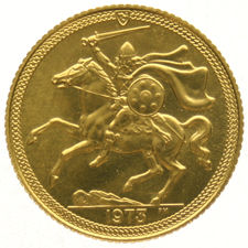 Isle Of Man  – ½ Sovereign 1973A  Elizabeth II  – gold