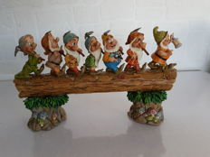 Disney, Walt - Disney Traditions Statuette - Log with the seven dwarfs from Snow White