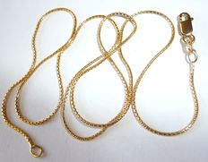 Necklace made of 18kt gold Venetian pattern