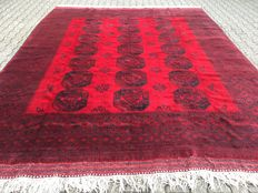 Oriental carpet Afghan – 100% hand knotted – Investment
