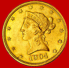 United States of America – 10 dollars – 1904-O (New Orleans) – Gold. Rare