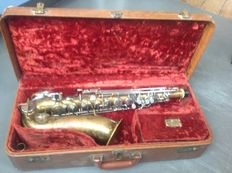 Martin Indiana alto saxophone including case, padsaver and original accessories, 1955