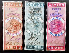 Ceylon 1878/1904 - Revenues Stamps of Queen Victoria and George Edward VII