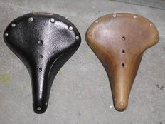Brooks bicycle saddles 2x - ca. 1960/1970
