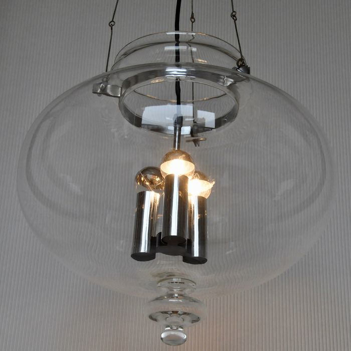 Glash Tte Limburg Chrome And Hand Blown Glass Pendant