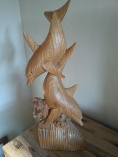 Wooden dolphins - Asia