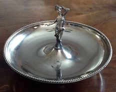 Silver plate candy dish 1960