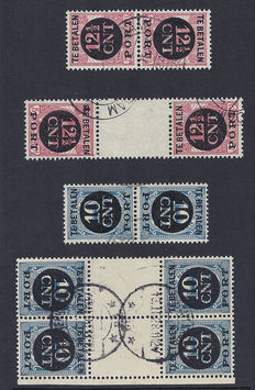 The Netherlands 1924 – Post turn print – NVPH P67a/68b