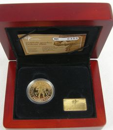 The Netherlands - double ducat 2006, gold in coffer with certificate KNM.