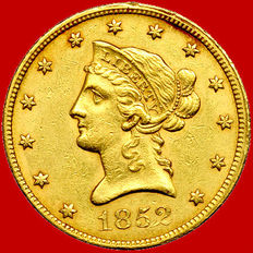 United States of America – 10 dollars – 1852 – Gold