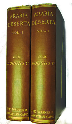 Charles M. Doughty - Travels in Arabia Deserta - 2 volumes -  1921