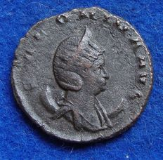 Roman Empire – Silver Antoninianus of emperor Salonina wife of Gallienus  (254-268 A.D.), struck in Milan, AVG IN PACE (P412)