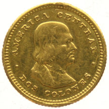 Costa Rica - 2 Colones 1926 - gold