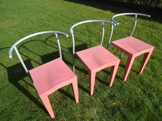 Philippe Starck for Kartell – 3 x Dr Glob  chairs.