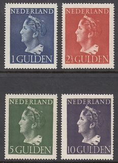 "The Netherlands 1946 – Wilhelmina type ""Konijnenburg"" – NVPH 346/349."