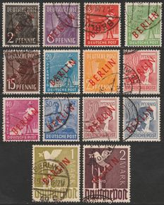 Berlin 1949 - Control Council Edition with red overprint -  Mi 21/34 – gekeurd BPP Schlegel en Bohne