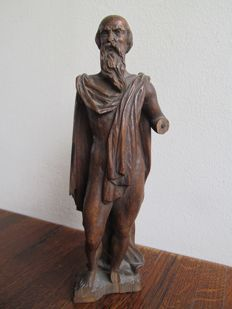 Antique wooden holy image - Belgium/Flanders 18/19th century