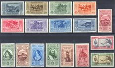 Kingdom of Italy, 1932/35 - Series for 50th anniversary of Garibaldi's death - Sassone 315/324 + A32/38 S. 64 - Series for 100th anniversary of the death of Bellini Sassone 388/394 + A90/94 S. 83.