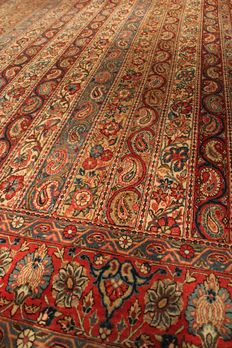 hand knotted Persian rug- Ghoum-300x200cm- Iran- 1940s