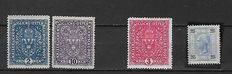 Austria 1899/1922 - Selection between Michel 72/414  and army postal service