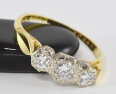 0.60 ct diamond ring in 18 kt gold * no reserve *