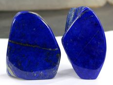 Finest Royal Blue Lapis Lazuli tumbles - 92 and 96mm - 686gm  (2)
