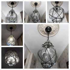 2 x Hand-blown Venetian lamps with exactly the same dimensions