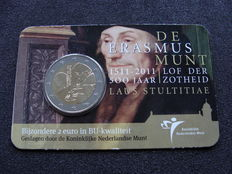 The Netherlands - 2 Euro 2011, 'Erasmus' in coin card