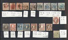 Lombardy Veneto 1850-1862, small lot of used stamps, Sassone no.s 3-36
