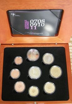 "The Netherlands – Year pack (Proof) 2011, including 2 Euro coin ""Erasmus""."