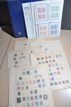 Scandinavia - Lot in old album sheets, stock book and stock sheets