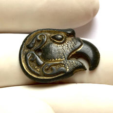 Merovingian Bronze - Gold plated Eagle Applique / 22mm.